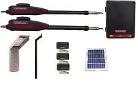 Liftmaster LA412 Dual Swing Solar Gate Opener Kit (Complete Package)