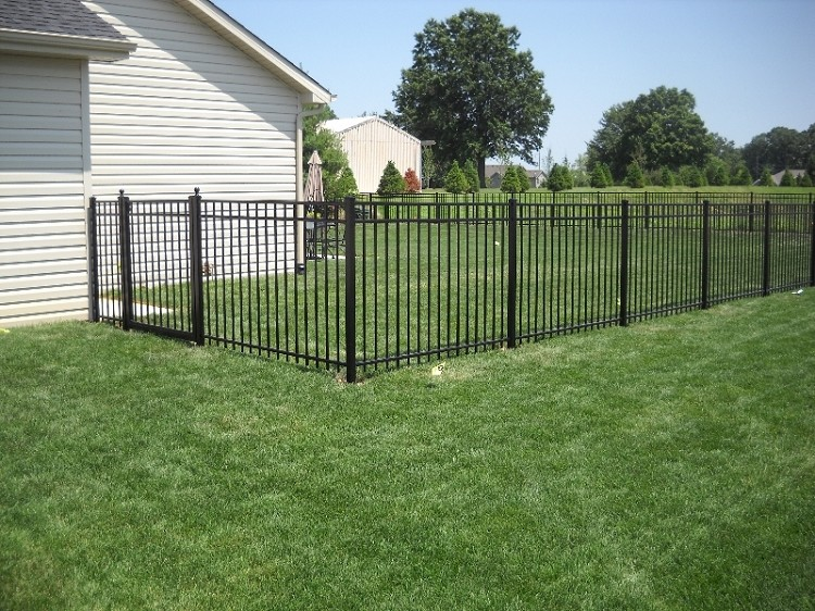 Pre Built Aluminum Fence Panels Smooth Top