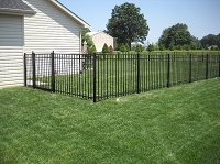 Pre-Built Aluminum Fence Panels Smooth Top