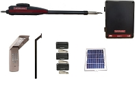 Liftmaster LA412 Single Swing Solar Gate Opener Kit (Complete Package)