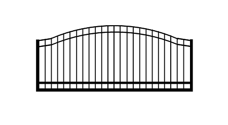 GulfStar2- 12' Single Swing Entry Gate
