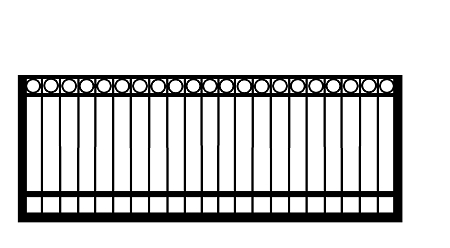 GulfStar3- 12' Single Swing Entry Gate