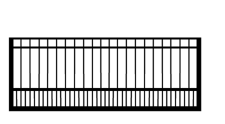 GulfStar4- 12' Single Swing Entry Gate