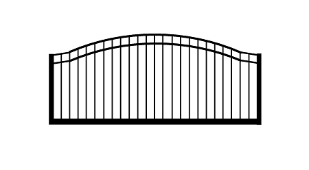 GulfStar1- 12' Single Swing Entry Gate