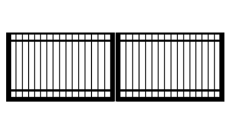 GulfStar7- 12' Dual Swing Entry Gate