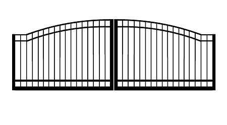 GulfStar9- 12' Dual Swing Entry Gate