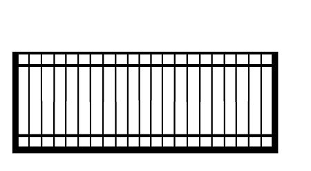 GulfStar5- 12' Single Swing Entry Gate