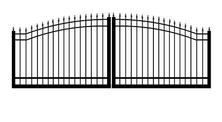 GulfStar11- 12' Dual Swing Entry Gate