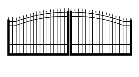 GulfStar12- 12' Dual Swing Entry Gate